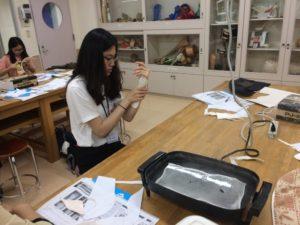 作業療法士学科 中国研修生スプリント(手の装具)作成