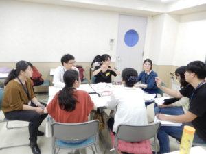 言語聴覚士学科 ことばの相談室実習に作業療法士学科の学生が見学に来てくれました!