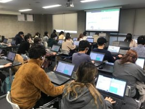 診療情報管理士学科 パソコンを使用した授業の様子