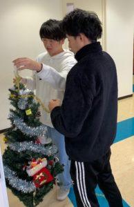 診療情報管理士学科 クリスマスツリー設営☆