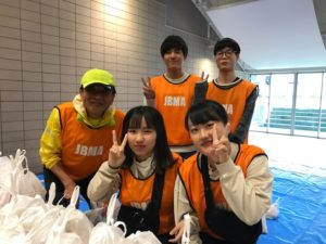 視能訓練士学科3年制 駅伝大会ボランティア