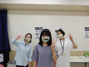 言語聴覚士学科 手作りマスクをいただきました♪
