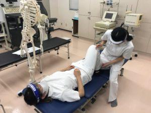理学療法士学科 実技試験に向けての練習