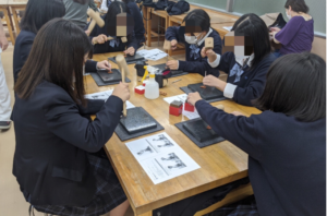作業療法士学科 大阪府立東淀川高校 連携授業!