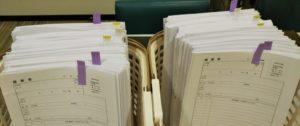 視能訓練士学科1年制 遠隔授業で使う授業資料を事前に配布しています!