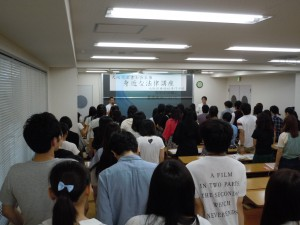 本年度入学生に法律講座を行いました!