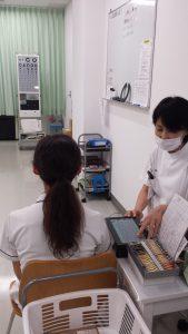 視能訓練士学科1年制 2期目の実習頑張っています!Vol.2