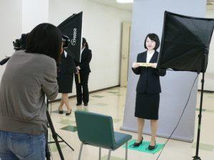 視能訓練士学科1年制 就職活動のための写真撮影!