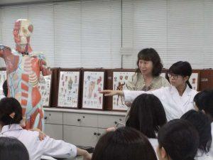 視能訓練士学科1年制 「解剖生理学」の授業を紹介します!