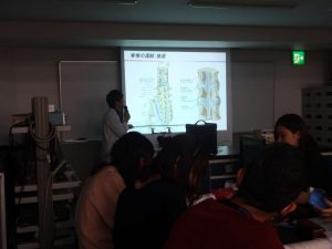 作業療法士学科 「解剖学」の授業の様子をお見せします!