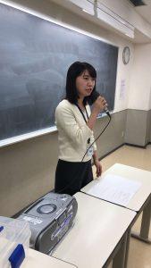 視能訓練士学科3年制 2年生の「キャリアマネジメント論」で卒業生が講演!